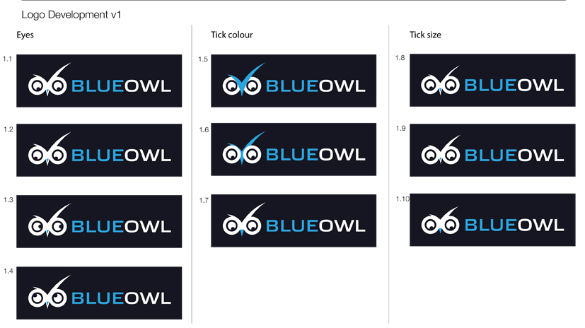 Blue Owl logo development