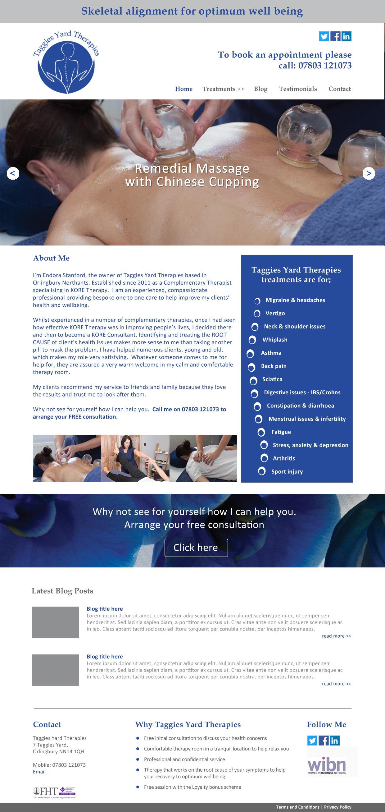 Taggies Yard Therapies web design