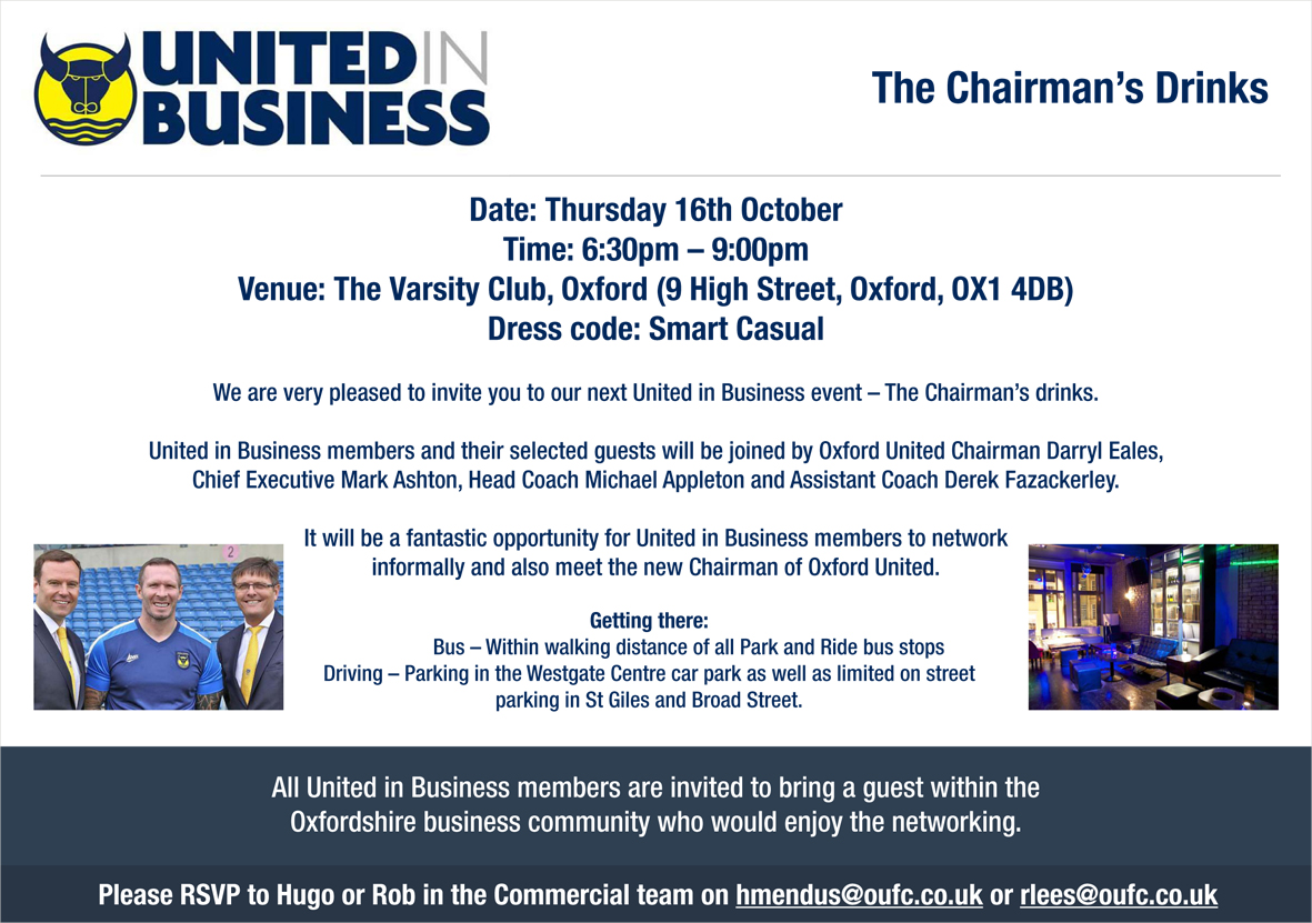 Invitation for United in Business