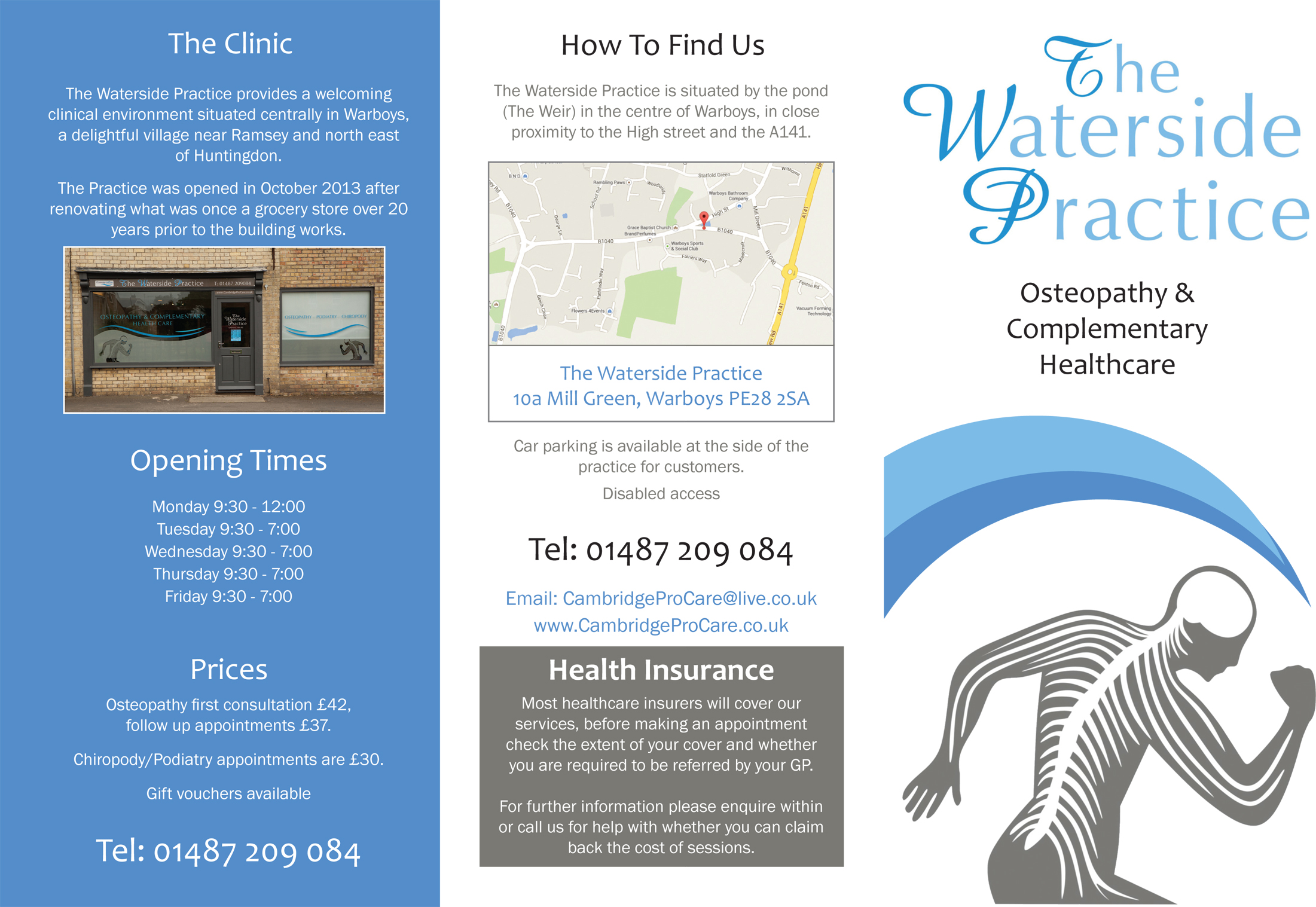 Design and print of trifold brochure